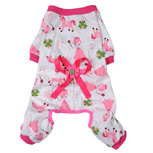 Colorful Cute Animals Printing Yorkie Pajamas With Bow On Back