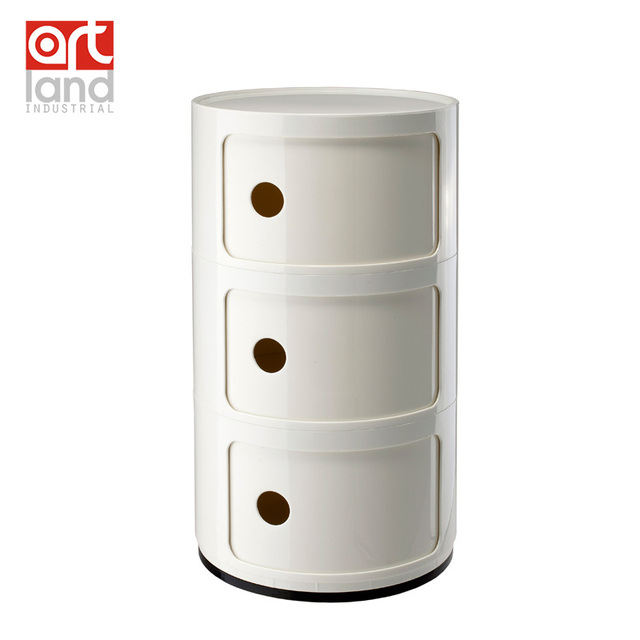Plastic Round Cabinet Abs Material Bedside Table Bathroom Storage Free Shipping Door To By Ems