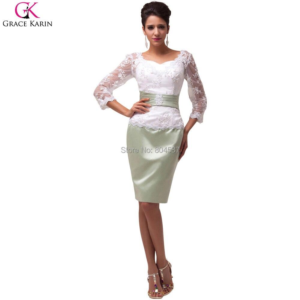 Robe Elegant Grace Karin Ladies Short Satin Lace Wedding Party ...