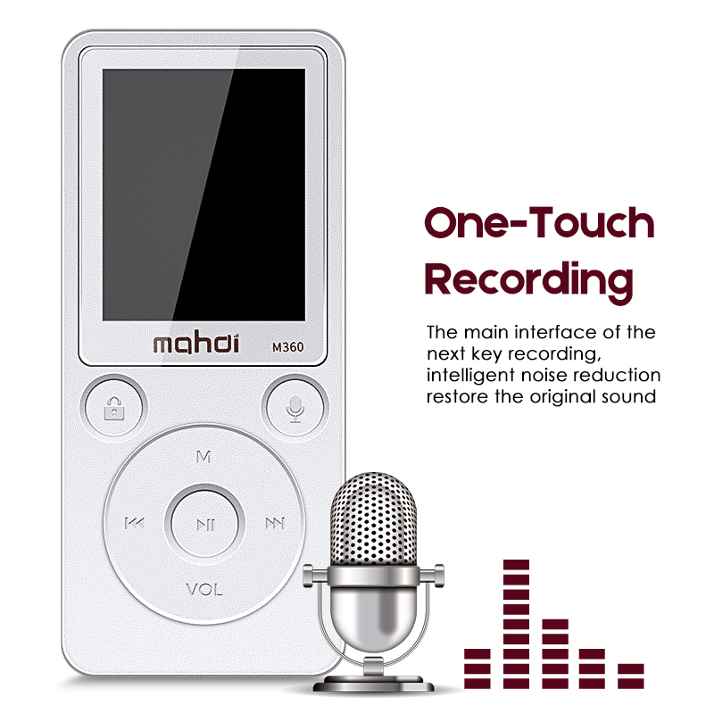 Enregistreur enregistrement numérique HIFI lecteur MP3 Audio Radio baladeur Speler FM Radio mémoire intégrée stéréo 8G Flac DSD avec écran