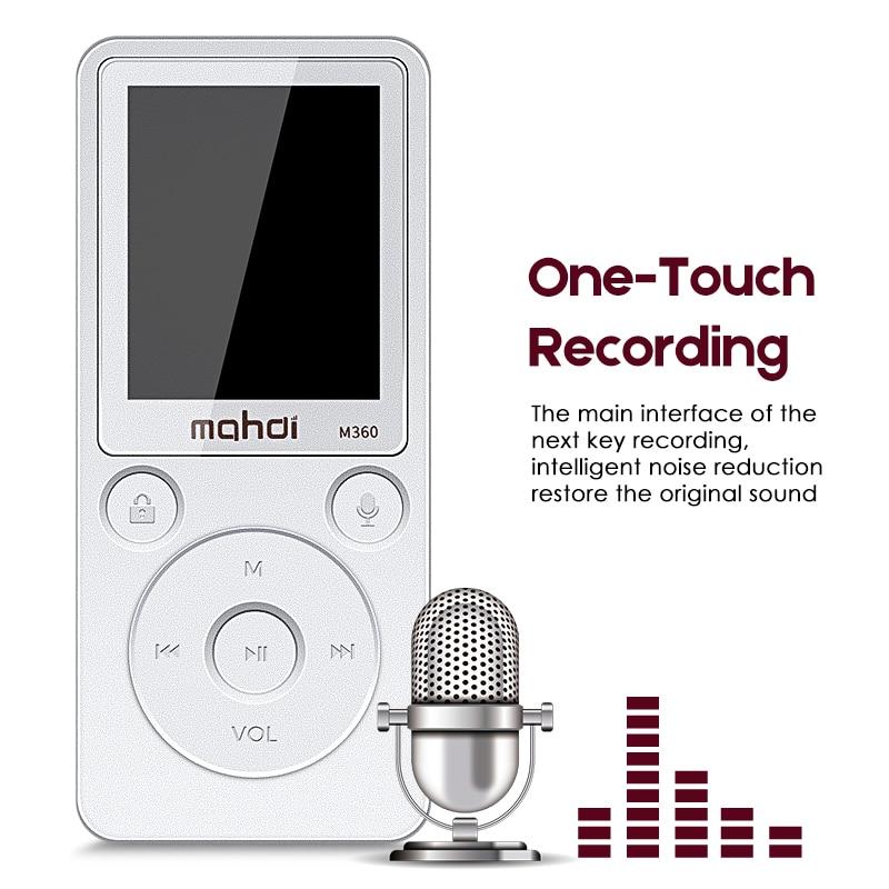 где купить Recorder Recording Digital HIFI MP3 Player Audio Radio Walkman Speler FM Radio Built-in Memory Stereo 8G Flac DSD With Screen дешево
