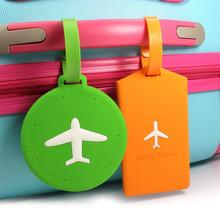 Innovative PVC Airplane Luggage Tag Travel Accessories Identifier Card Anti-theft Label Suitcase For Tags