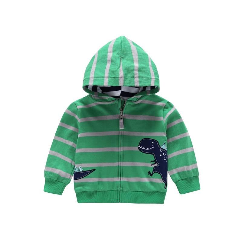 27kids Baby Toddler Boy Girls Striped Animal Print Sweatshirt Children Striped Hoodies Clothing Kids Casual Sport Outerwear