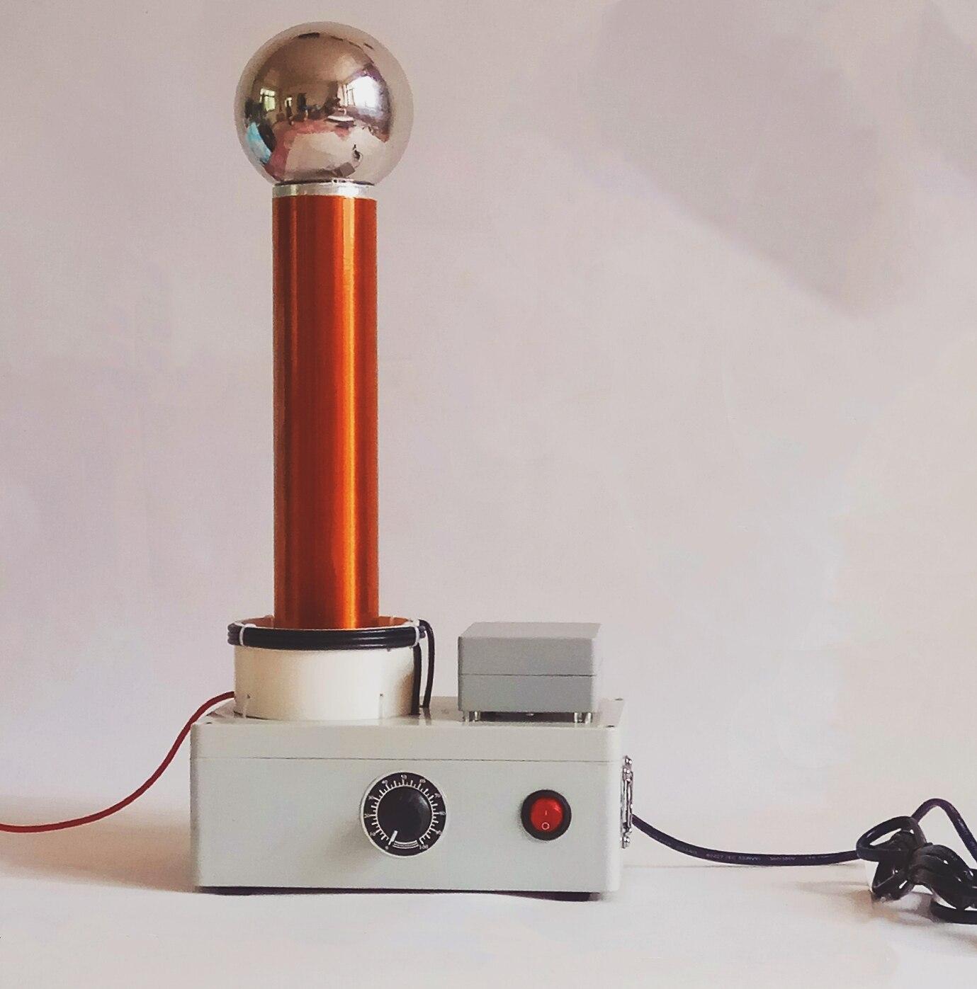 Démonstration du principe de Transmission sans fil AC haute fréquence du simulateur de foudre d'étincelle de bobine Tesla