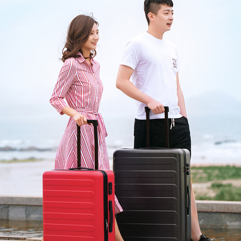 Letrend Fashion Color ABS Rolling Luggage Spinner Women Trolley Suitcase Wheels 20/24 inch Carry On Travel Bag Hardside Trunk - 6