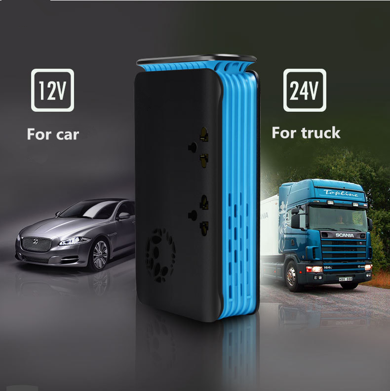 1 Piece Car Inverter Both For Truck & Car DC 24V to 220V AC Car Charger Socket 200W With USB Cigarette Lighter Hole - 4