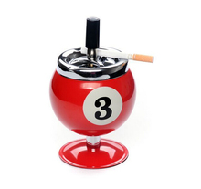 10cm*16.5cm Big Billiards ashtrays creative windproof bring lid ashtray stainless steel soot box useful in KTV sitting room etc