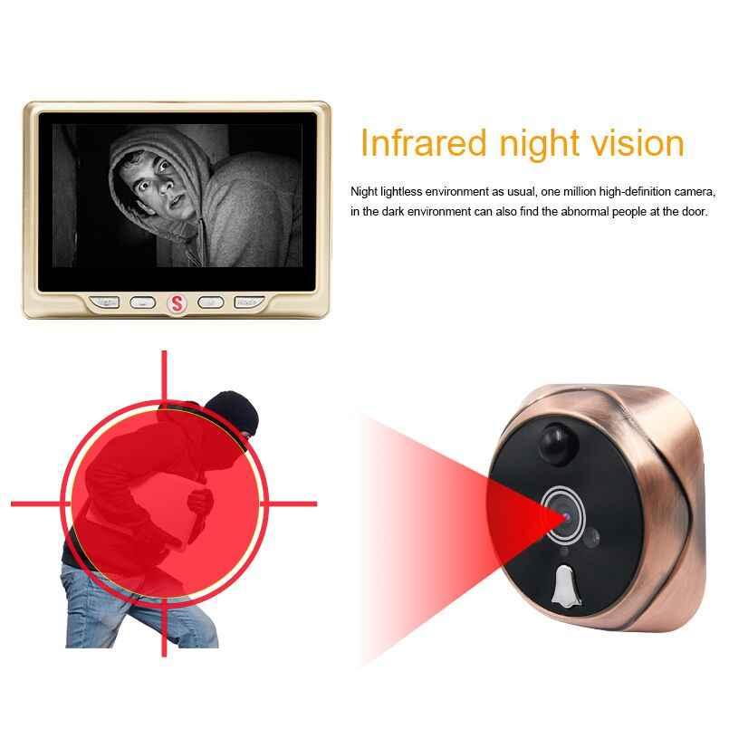 4300E Digital Door Viewer HD Picture Visual Intercom Doorbell 4.3 ...