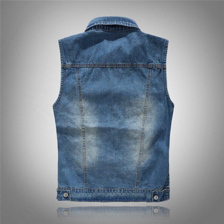 Women S Denim Coat Distressed Casual Solid Color Vest