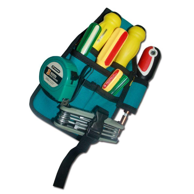 Hardware Toolkit Machinist Waist Bag Waterproof Oxford Cloth Multi Organize Pockets Storage Pouch No Belt Electrician Worker