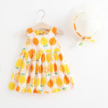 CHAMSGEND Toddler Baby Kids Girls Summer Fruit Princess Dresses Hat Casual Outfits Set 19MAY6 P35(China)
