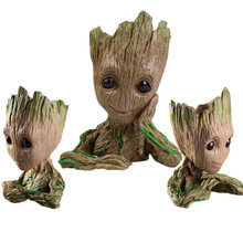 New Avengers Guardians of The Galaxy Planter Pot Baby Action Figures Cute Model Toy Pen Pot Best Christmas Gift Macetero