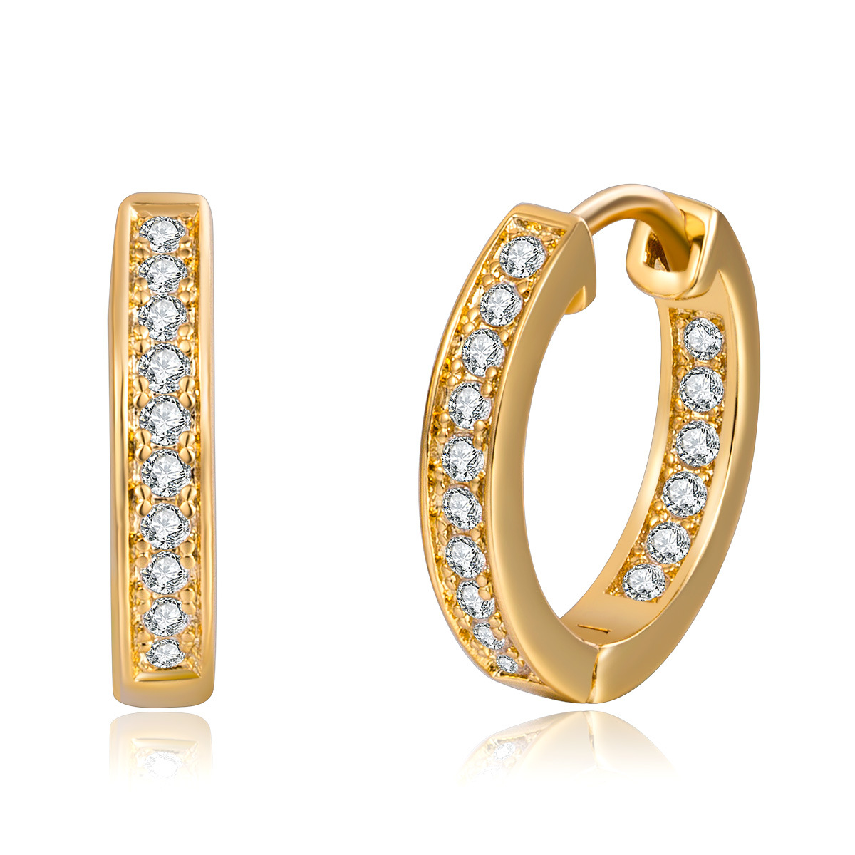 808 STORE Dubai Women Geometric Shapes Heart Shaped Hollow Gold Earrings Fashion Accessories Crystal Stud Earrings Fine Jewelry rhinestone heart shaped stud earrings page 4