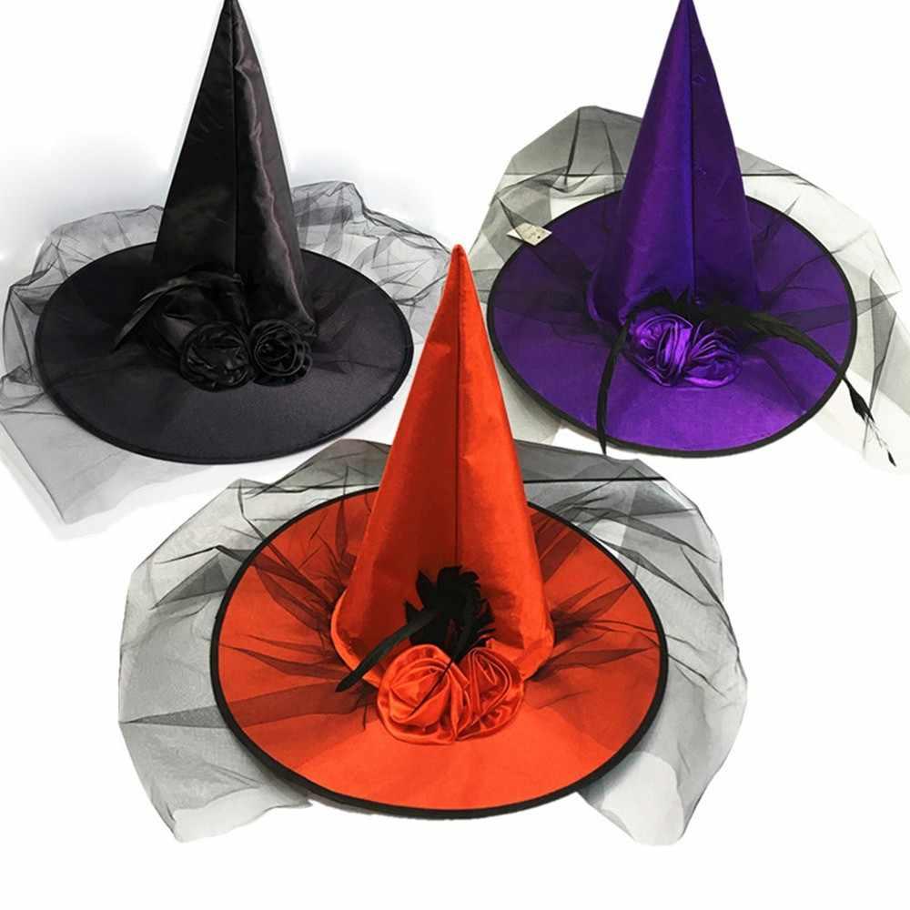 Шляпа ведьмы на Хэллоуин, шляпа злой ведьмы, декор для Хеллоуин-вечеринки, вечерние шляпы, нарядное платье, Декор, топ, шляпа, новинка 2019