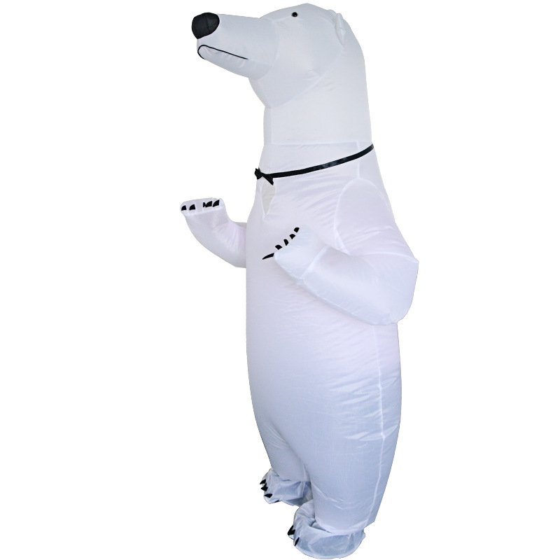Adult Halloween Party Inflatable Costume Cute Polar Bear Mascot Performance Clothes Women Men Carnival Purim Cosplay
