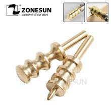 Supplies-Accessories Leather-Edge-Tool Electric Iron Brass ZONESUN Copper-Head Burnisher