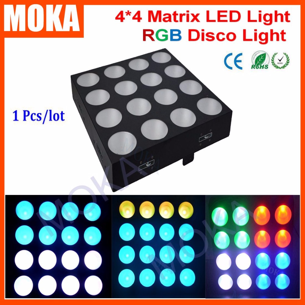 Disco Light led Matrix Blinder 16x30w RGB LED Matrix light COB Led Blinder 4x4 for Bar Club blinder m45 x treme