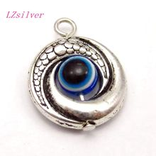 50pcs Tibet Silver EVIL EYE Kabbalah Charm Pendants 15mm 01770
