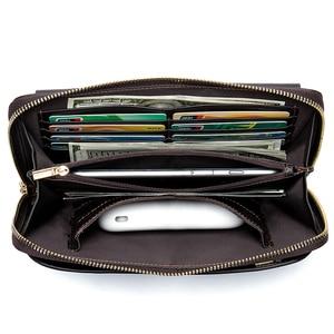 Image 3 - MVA uzun cüzdan erkek hakiki deri erkek el çantası için bozuk para cüzdanı erkek fermuar cüzdan kredi kart tutucu iş para çantaları