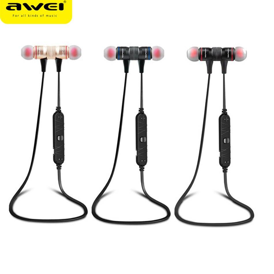 Awei a920bl smart wireless bluetooth 4.0 estéreo deporte auricular en la oreja l