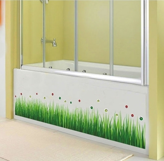 Buy Fresh Grass Wall Border Stickers Waterproof Green Plants Vinyl Decals Wallpaper Family Bedroom Bathroom Nursery