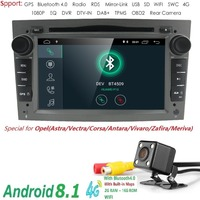 QuadCore Android 8.1 2 Din 7 Car DVD Player GPS For Vauxhall Opel Antara VECTRA ZAFIRA Astra with SWC DTV DVR Bluetooth camera