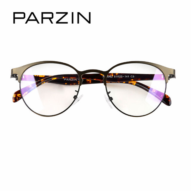 PARZIN Retro Big Round Glasses Frame With Clear Lens Fashion ...