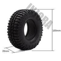 "4PCS 100MM 1.9"" Rubber Tyre / Wheel Tires for 1:10 RC Rock Crawler Axial SCX10 90046 90047 AXI03007 Tamiya CC01 D90 D110 TF2 4"