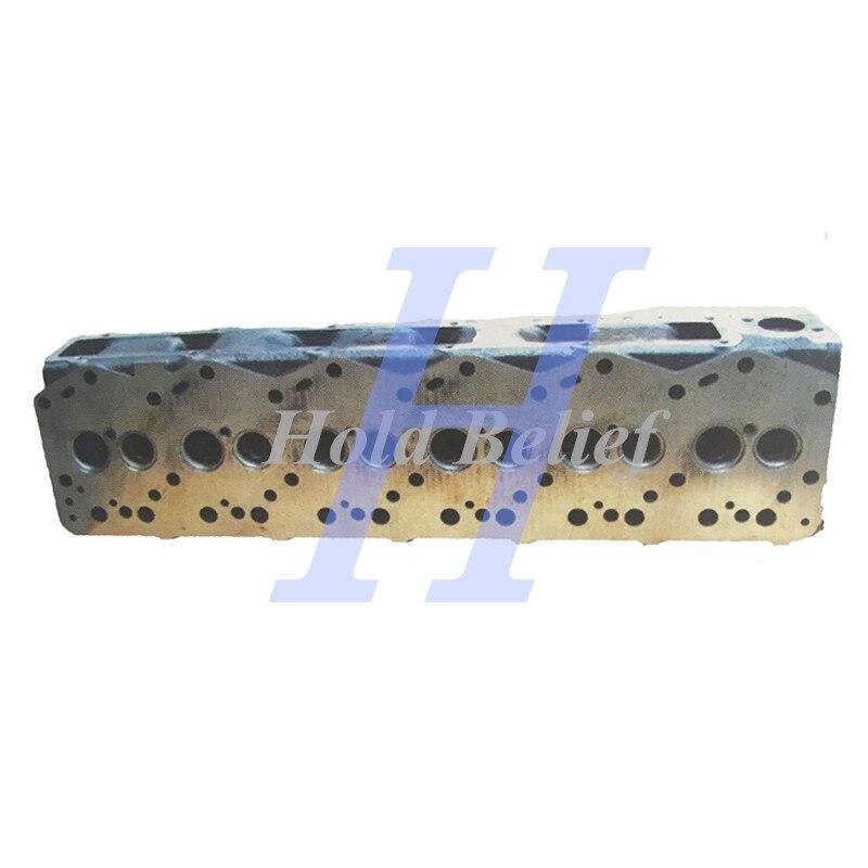 Culata de cilindro 6137-12-1200 para excavadora Komatsu PC200-3 motor 6D105