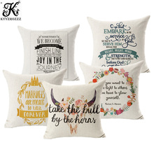 Letters, linen, cotton, mattress covers, famous household, sofa, pillow case, office cushion set 45X45CM throw pillows
