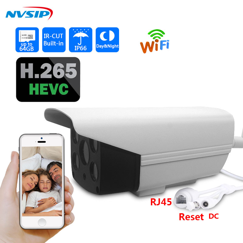 HD IP Camera 1080p Wireless Bullet Camera WIFI Waterproof Outdoor Security CCTV IP Cam Support 64G SD Card H265 HEVC ip camera vstarcam c7815wip 720p hd wireless bullet wifi ip camera outdoor security waterproof cctv compatibility and support 128g tf card