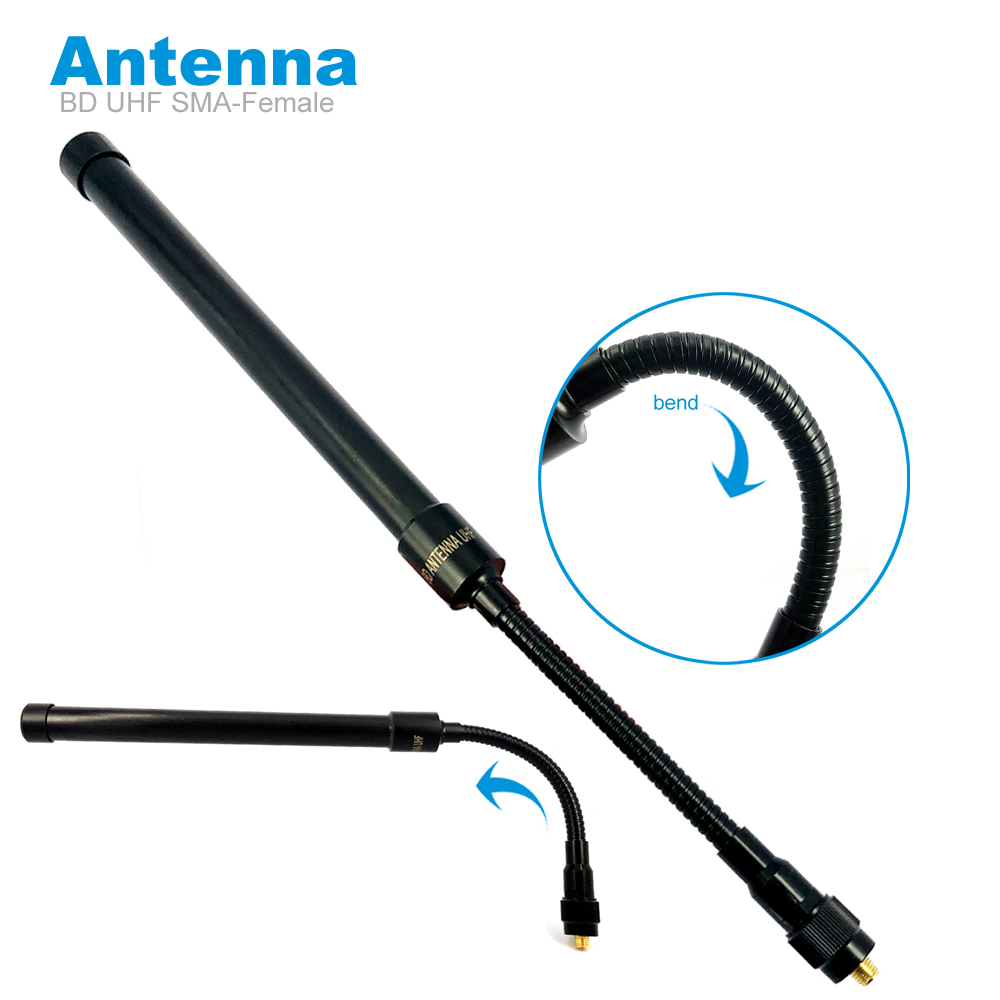 Tactics Goose Tube Antenna For Baofeng UV-5R UV-82 UV-9R BF-888s Walkie Talkie BD Folding Antenna UHF AT33 SMA-Female Accessorie