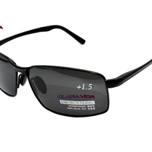 =CLARA VIDA Polarized Reading Sunglasses= Black Al-Mg Alloy