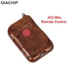QACHIP 433 MHz รีโมทคอนโทรลไร้สายรหัสการเรียนรู้ 433 MHz เครื่องส่งสัญญาณสำหรับประตูเปิดประตูไฟฟ้า FOB KEY