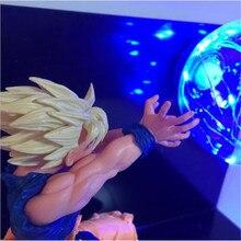 2018 Hot Dragon Ball Kamehameha Attack Super Saiyan Son Goku DZB DIY Display Bedside Lamp With US 220V 110V Night Led Lamp