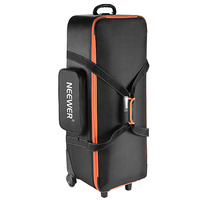 Neewer Camera Rolley Carry Bag Straps Padded Compartment Wheel For Light Stand/Tripod Photo Studio Equipment
