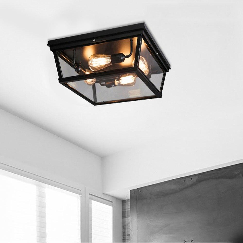 Nordic Retro Led Ceiling Light Lamp Bedroom Living Room 110V 220V ...