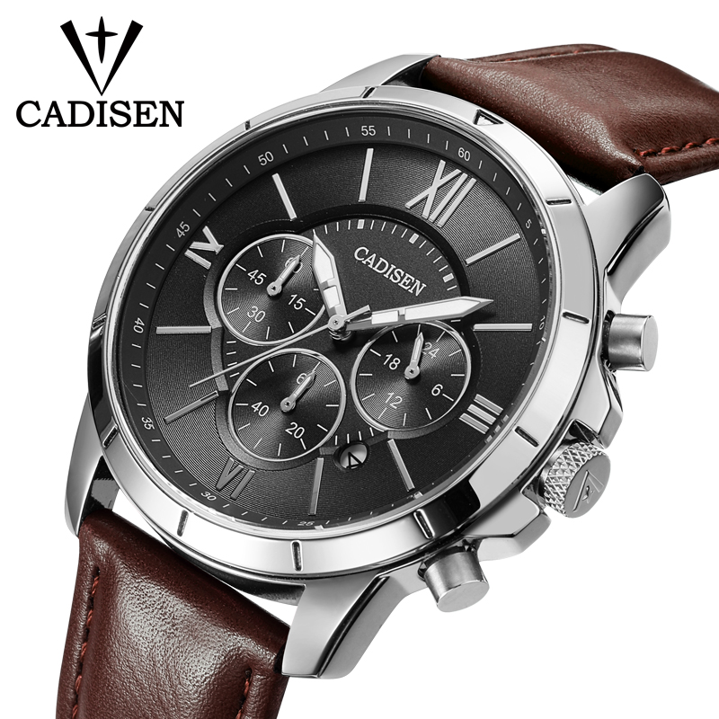 Herreure CADISEN Top Hot Fashion Sport Mærke Luksus Quartz Watch - Mænds ure