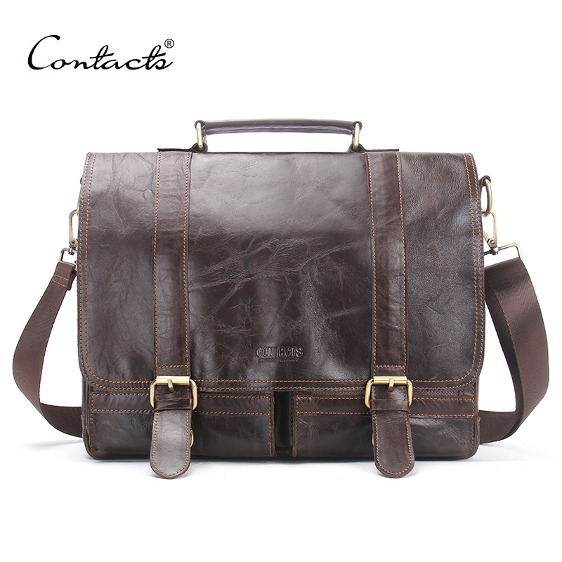 CONTACT'S 2017 Men Retro Briefcase Busins