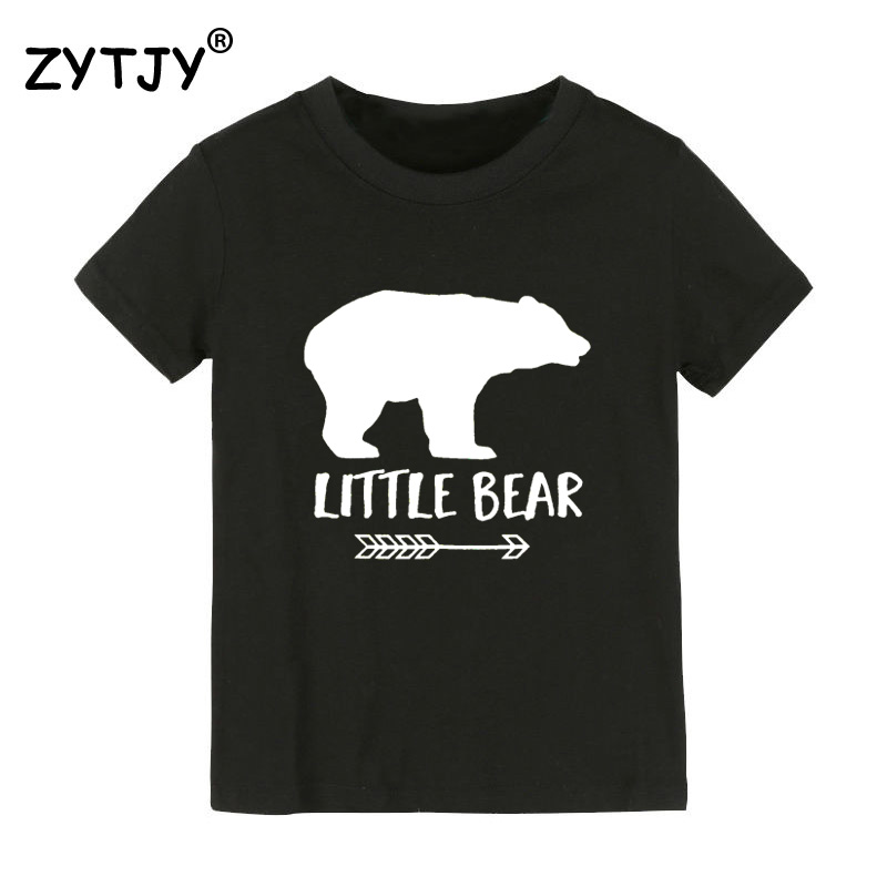 Little Bear arrow Print Kids tshirt Boy Girl t shirt For Children Toddler Clothes Funny Tumblr Top Tees Drop Ship CZ-14 image