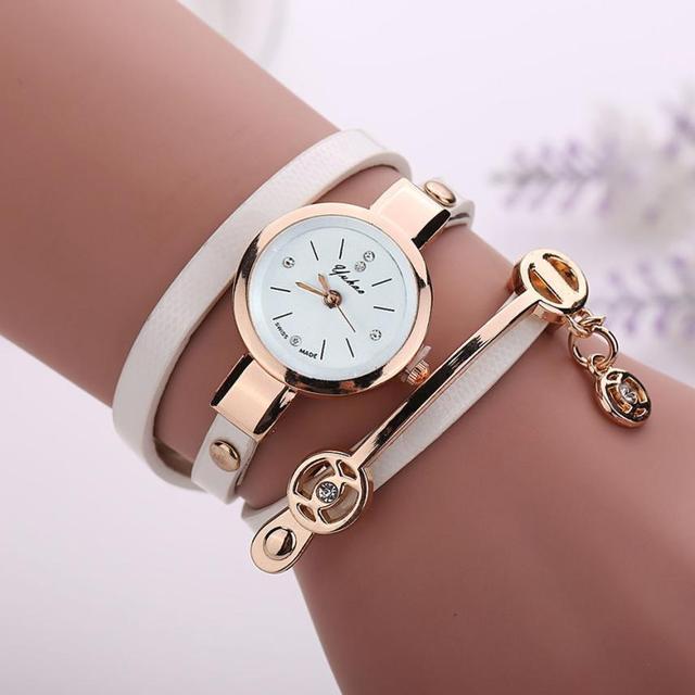 Fashion Luxury Women Wristwatch Watches Leather Strap Ladies Bracelet Watch Casual Quartz Watch Clock 2018 #D