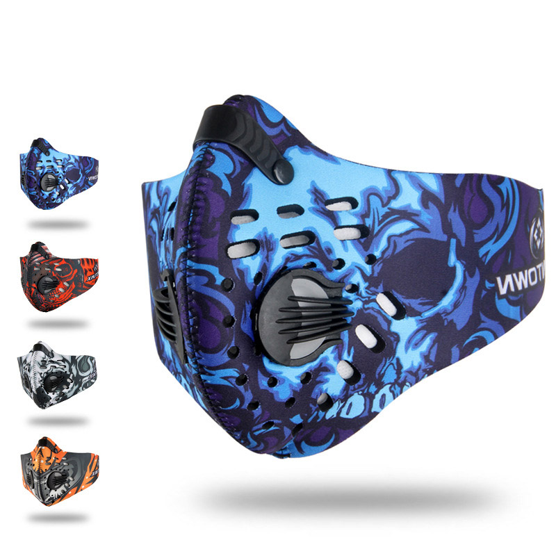 Alta qualidade universal à prova de vento anti pólen ativado carbono meia máscara facial filtro poeira esportes ao ar livre correndo woking wear