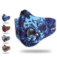 Haute qualité universel coupe-vent Anti-Pollen charbon actif demi-masque filtre à poussière Sports de plein air en cours d'exécution Woking Wear