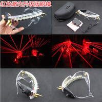 New Arrived 650nm Red laser glasses Party Red laser glasses 12pcs laser influx of people necessary stage flashing glasses