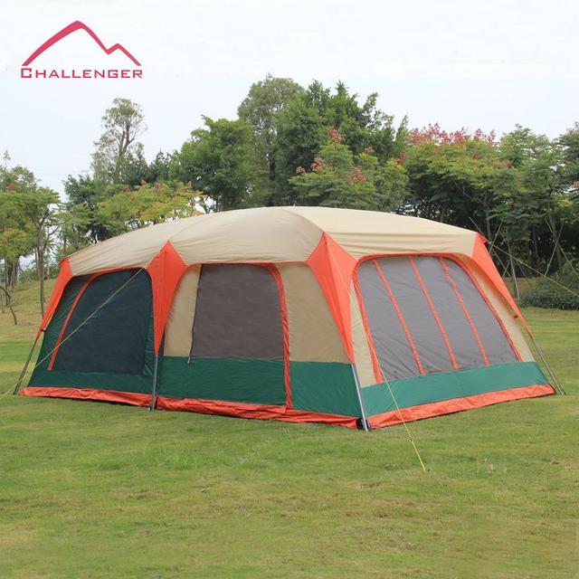 Cheap 6 people 8 people 10 people 12 people outdoor tent camping tent double wind rain