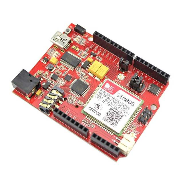 US $43 19 10% OFF Elecrow SIM808 GPRS GSM for Arduino uno+SIMduino UNO 2 in  1 Development Board DIY Projects Module Specially Battery Interface -in