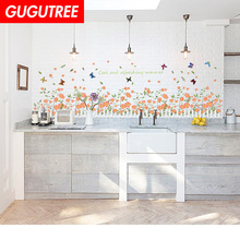 Decorate flower buttlefly bird art wall sticker decoration Decals mural painting Removable Decor Wallpaper LF-1780