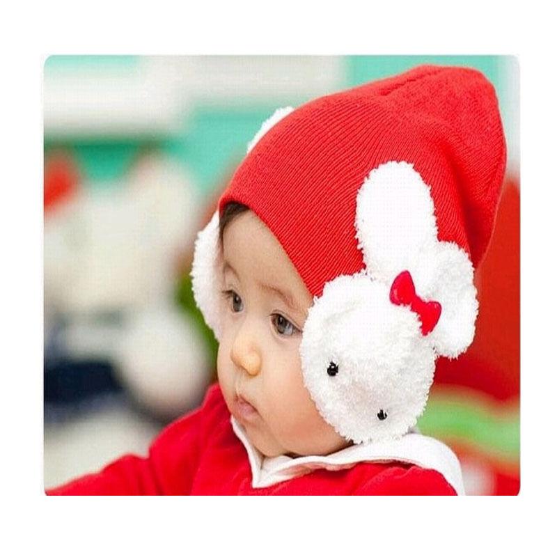 Beautiful Cute Rabbit Boys Girls Kids Winter Warmer Ear Flap Warm Hat Beanie Cap Crohet 4 Colors Hot