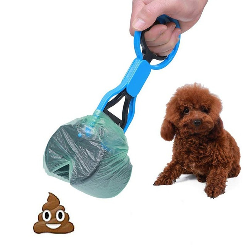 1Pcs Dog Dog Cat Animal Waste Pooper Scooper Long Handle Jaw Poop Scoop Shit Outdoor Cleaner Pick Up Pet Products Accessories