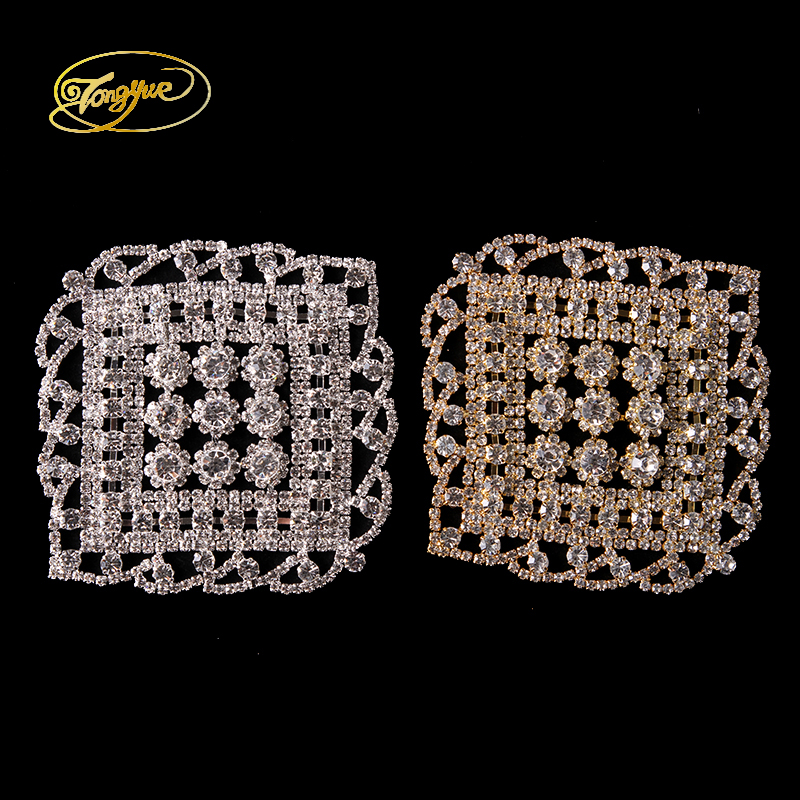 10.2*10.2CM Macrame Row Drill Crystal Decorated Clothing Luggage Shoes Accessories DIY Sewing Decals Embellishment